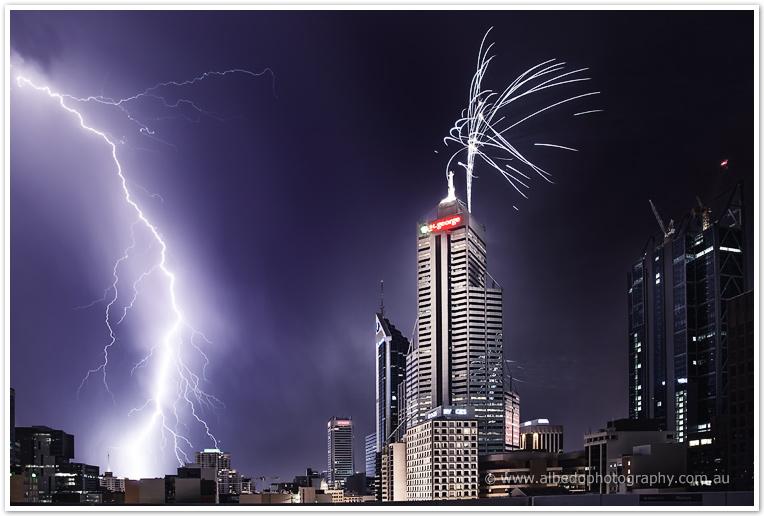 Australia Day Skyworks - Perth 2012